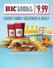 Every Family Deserves The BKTM Bundle Deal A WHOPPERR Sandwich WHOPPER JR RSandwich 2 Small Fries Soft Drinks And Kids Meal